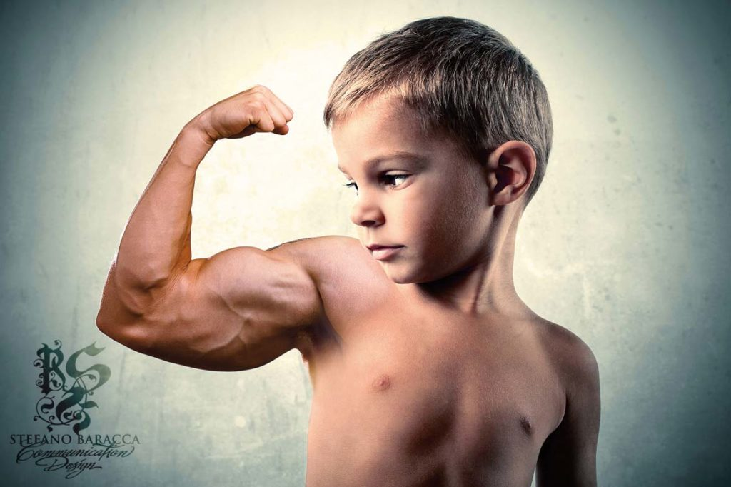 Bimbo muscoloso