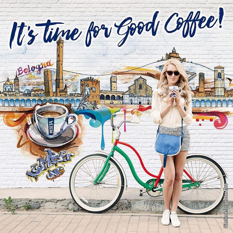 Immagine digitale ragazza caffe