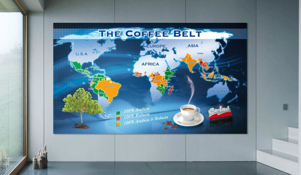 Moderna Cartina Geografica Caffe