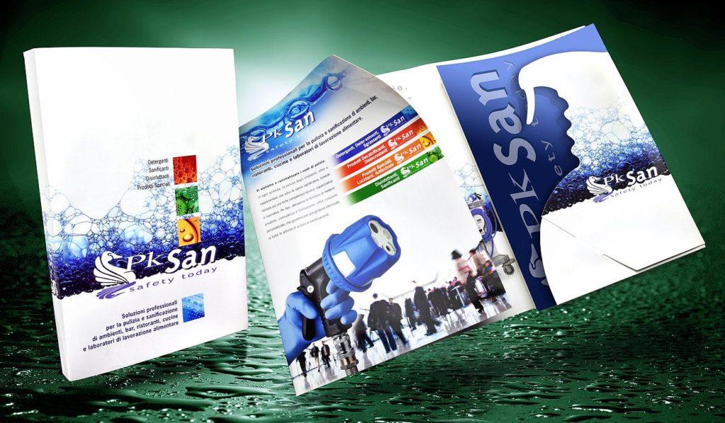 Brochure Cartellina istituzionale prodotti di pulizia