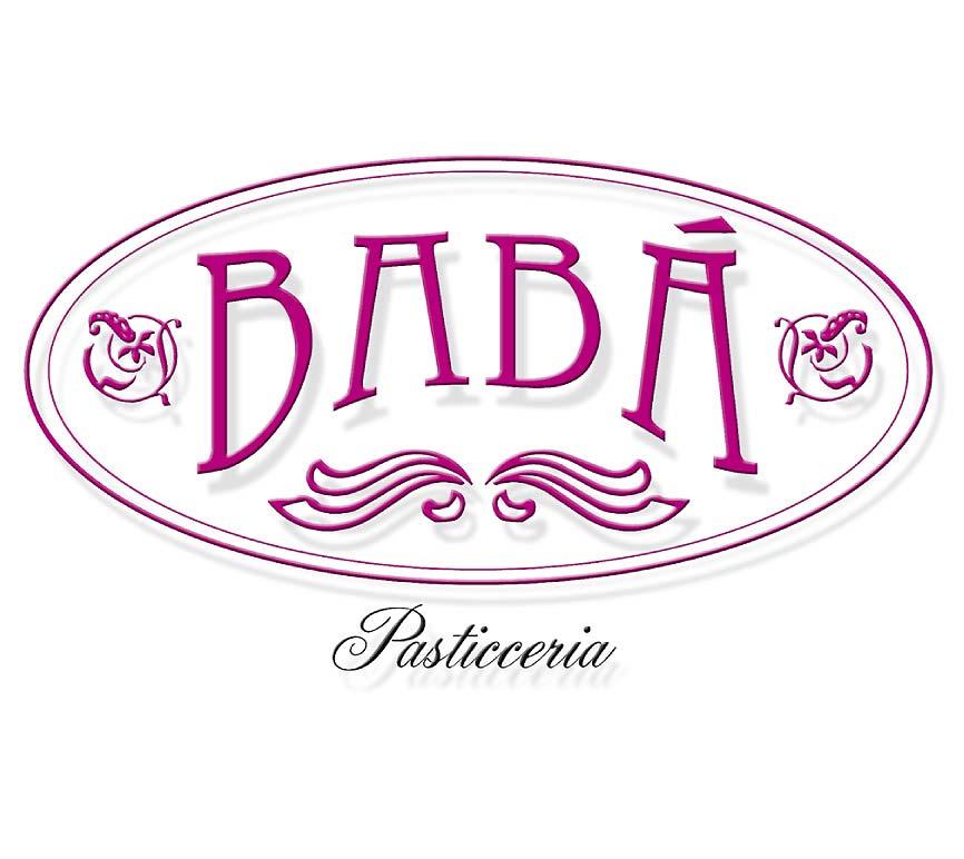 Logo per pasticceria Babò con ovale e carattere bell'epoque