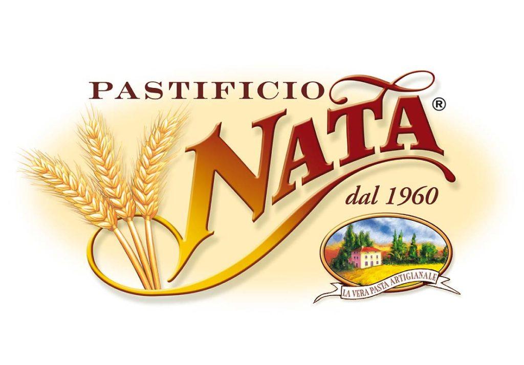 Logo Pastificio stile vintage con spighe e casolare