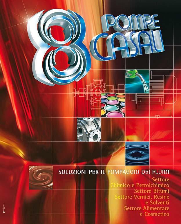 Poster e immagine per catalogo pompe industriali