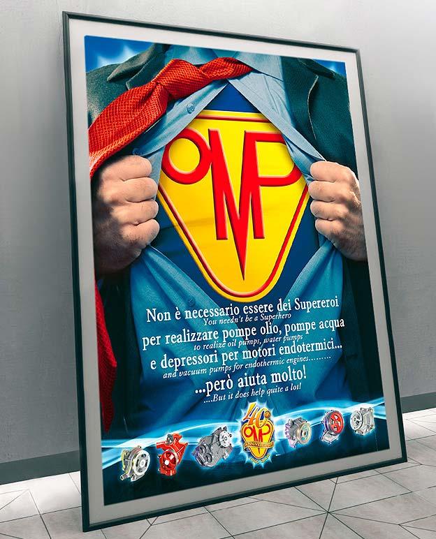 Poster con supereroe