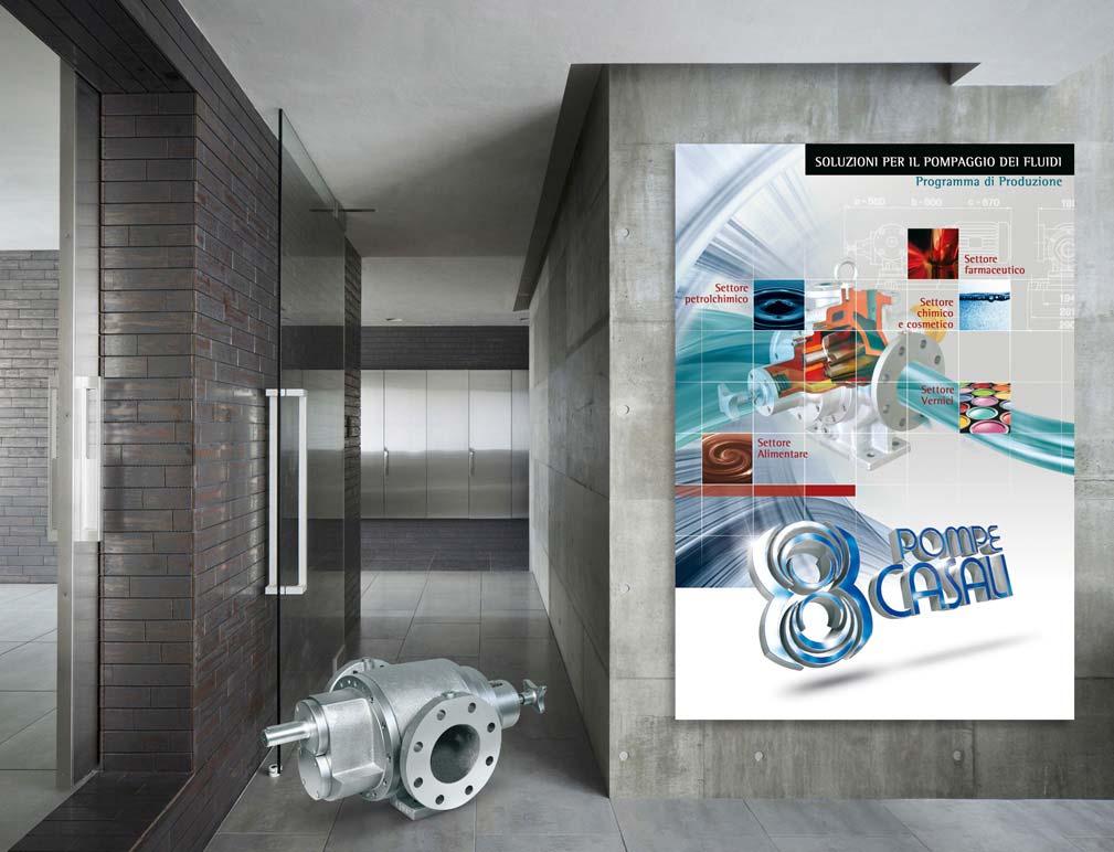 Poster e immagine per catalogo tecnico pompe industriali