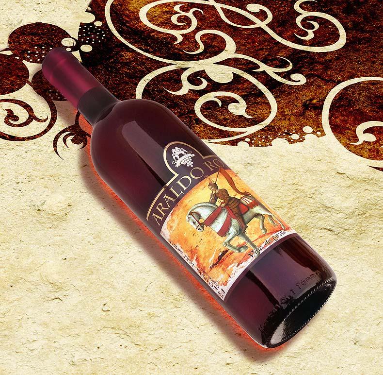 Etichetta vino con alfiere