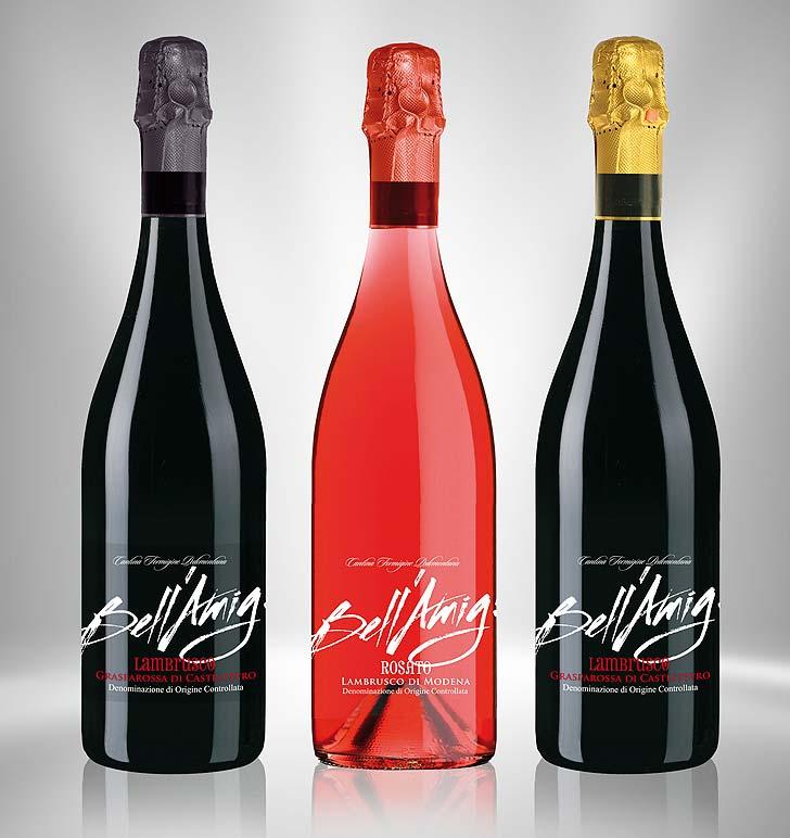 Etichetta vino Bell'Amig trasparente